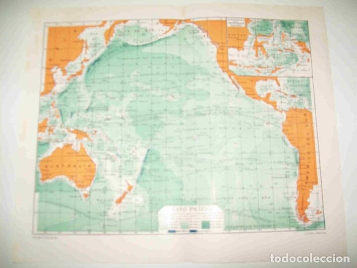 Lamina Espasa 21291 Mapa Del Oceano Pacifico Kaufen Alte