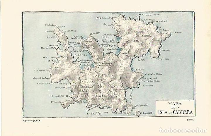 Isla De Cabrera Mapa.Lamina Espasa 14619 Mapa De La Isla De Cabrera Baleares