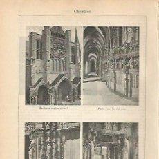 Coleccionismo: LAMINA ESPASA 1905: CATEDRAL DE CHARTRES FRANCIA. Lote 113893674