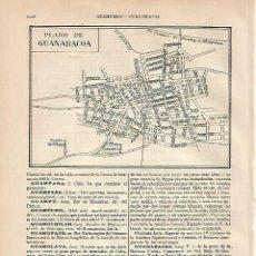 Coleccionismo: LAMINA ESPASA 2233: PLANO DE GUANABACOA CUBA. Lote 113899947