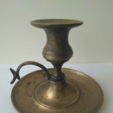Coleccionismo: ANTIGUO CANDELABRO DE BRONCE-SIGLO XIX. Lote 114261464