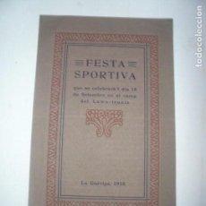 Coleccionismo: FESTA SPORTIVA-LA GARRIGA-1910. Lote 114430647