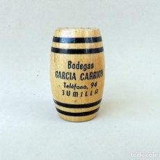 Coleccionismo: PALILLERO DE MADERA CON PUBLICIDAD DE BODEGAS GARCIA CARRION, JUMILLA. Lote 114841063
