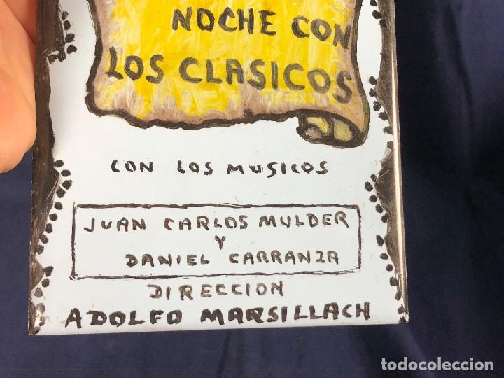 Coleccionismo: cartel publicitario ceramica teatro victoria eugenia san sebastian una noche con los clasicos - Foto 2 - 115081887