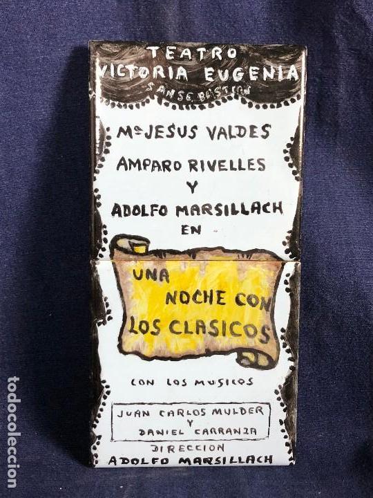 CARTEL PUBLICITARIO CERAMICA TEATRO VICTORIA EUGENIA SAN SEBASTIAN UNA NOCHE CON LOS CLASICOS (Coleccionismo - Varios)