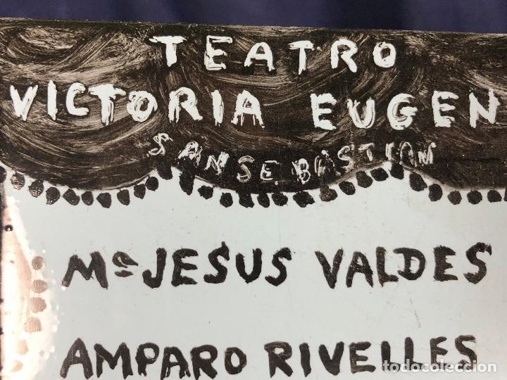 Coleccionismo: cartel publicitario ceramica teatro victoria eugenia san sebastian una noche con los clasicos - Foto 4 - 115081887