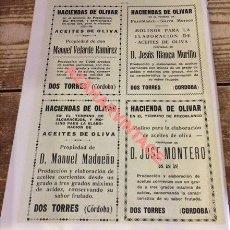 Coleccionismo: 1924, HOJA DE REVISTA, PUBLICIDAD FABRICA ACEITE DE OLIVA, CORDOBA Y CIUDAD REAL,195X270MM. Lote 115126819