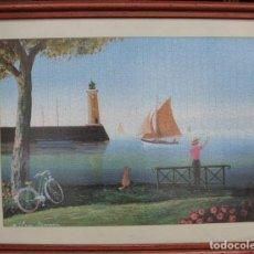 Coleccionismo: CUADRO PUZZLE. PAISAJE MARINO - CUADRO-072.. Lote 98844419
