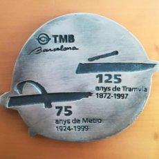 Coleccionismo: MEDALLA CONMEMORATIVA TMB BARCELONA 125 AÑOS DE TRANVÍA 1872-1997 - 75 AÑOS DE METRO 1924-1999. Lote 115395302