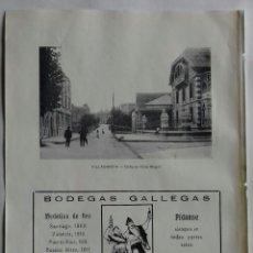 Coleccionismo: HOJA CON PUBLICIDAD DE ORENSE 1913. Lote 115475039