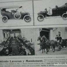 Coleccionismo: CARRUAJES Y AUTOMOVILES ANTONIO LAVERAN Y MANDEMENT SEVILLA .AÑO 1910.17X12. Lote 115769415