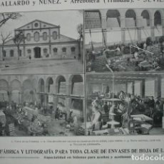 Coleccionismo: FABRICA Y LITOGRAFIA GALLARDO Y NUÑEZ ARREBOLERA TRINIDAD SEVILLA .AÑO 1910.17X12. Lote 115769575