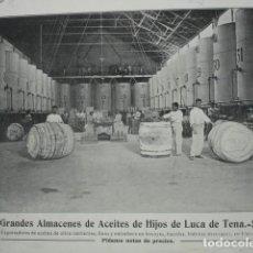 Coleccionismo: ALMACEN ACEITES HIJOS DE LUCA DE TENA SEVILLA .AÑO 1910.17X12. Lote 115769863
