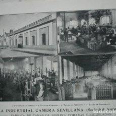 Coleccionismo: INDUSTRIA CAMERA SEVILLANA CAMAS MIRAFLORES SEVILLA .AÑO 1910.17X12. Lote 115772791