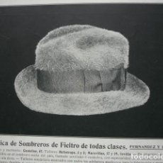 Coleccionismo: FABRICA DE SOMBREROS FERNANDEZ Y ROCHE SEVILLA .AÑO 1910.17X12. Lote 115772943
