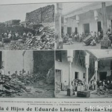 Coleccionismo: CORCHOS EDUARDO LLOSENT CALDEREROS SANTA ANA SEVILLA .AÑO 1910.17X12. Lote 115773039