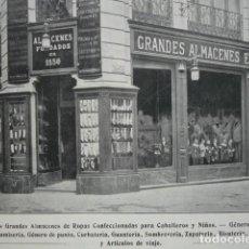 Coleccionismo: GRANDES ALMACENES EL AGUILA SIERPES SEVILLA .AÑO 1910.17X12. Lote 115773203