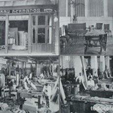 Coleccionismo: MUEBLES BRAU HERMANOS SEVILLA .AÑO 1910.17X12. Lote 115773263
