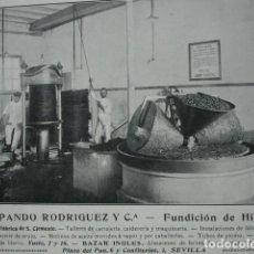 Coleccionismo: FUNDICION HIERRO PANDO RODRIGUEZ FABRICA SAN CLEMENTE SEVILLA .AÑO 1910. 15X11. Lote 115773963