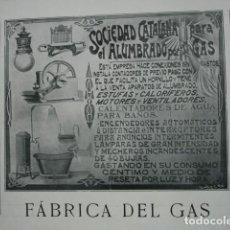 Coleccionismo: FABRICA GAS SOCIEDAD CATALANA SEVILLA .AÑO 1910. 15X11. Lote 115774219