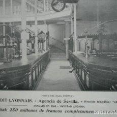 Coleccionismo: BANCO CREDIT LYONNAIS SEVILLA .AÑO 1910. 15X11. Lote 115774323