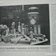 Coleccionismo: LABORATORIO FARMACEUTICO DOCTOR PODERON SEVILLA .AÑO 1910. 15X11. Lote 115774831