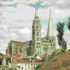 Coleccionismo: LAMINA 6722: JEAN-BAPTISTE-CAMILLE COROT LA CATEDRAL DE CHARTRES. Lote 110396020