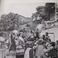 Coleccionismo: GRANADA GITANOS BAILANDO EN EL SACROMONTE LAMINA HUECOGRABADO 1910 . Lote 116183579