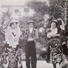 Coleccionismo: SEVILLA FERIA DE ABRIL BAILANDO LAMINA HUECOGRABADO 1910 . Lote 116183703