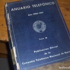 Coleccionismo: ANUARIO TELEFONICO 1960 1961, TOMO VI. MERCANTIL E INDUSTRIAL, LEGUMBRES A ZURZIDORAS.. Lote 54957595