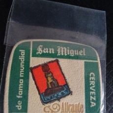 Coleccionismo: ANTIGUO POSAVASOS CERVEZA SAN MIGUEL ,ALICANTE ,VER FOTOS. Lote 116406259