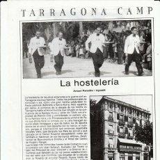 Coleccionismo: TARRAGONA CAMP - LA HOSTELERIA - CURIOSIDADES - HOJA RECORTADA - AÑOS 70/80. Lote 116611123