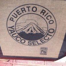 Coleccionismo: CUADRO CON TROZO DE SACO CAFÉS NOVELL PUERTO RICO YAUCO SELECTO. Lote 116635484