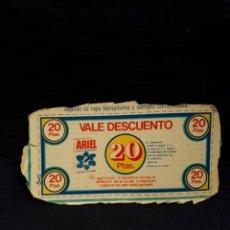 Coleccionismo: VALE DESCUENTO DETERGENTE ARIEL 20 PESETAS CARTON. Lote 116644951