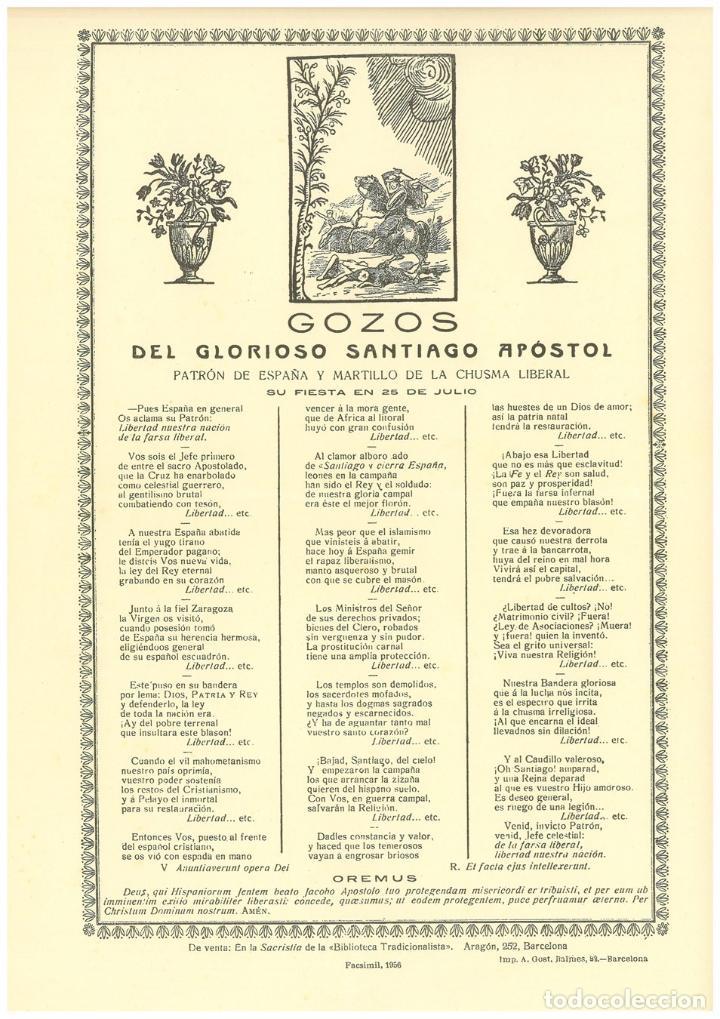 gozos del glorioso santiago apostol patrón de e - Comprar Documentos ...
