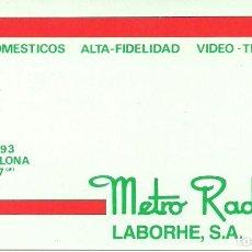 Coleccionismo: TARJETA COMERCIAL METRO RADIO BARCELONA . Lote 116859511