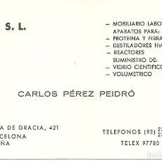 Coleccionismo: TARJETA COMERCIAL DRA S L BARCELONA. Lote 116859803