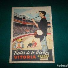 Coleccionismo: VITORIA, FIESTAS DE LA BLANCA AGOSTO 1958. Lote 116874499
