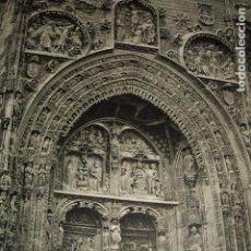 Coleccionismo: ARANDA DE DUERO BURGOS SANTA MARIA LAMINA HUECOGRABADO AÑOS 40. Lote 116969067