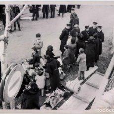 Coleccionismo: FOTO PRENSA SAFARA 1939 GUERRA CIVIL REFUGIADOS EN LA FRONTERA. Lote 117123823