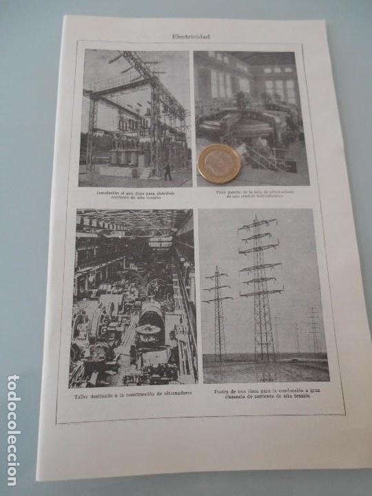 LÁMINA ESPASA - ZAP-14 - ELECTRICIDAD (Coleccionismo - Laminas, Programas y Otros Documentos)