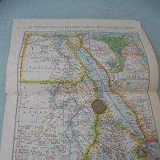 Coleccionismo: MAPA DE EGIPTO,EL NILO Y EL MAR ROJO + 7 PÁGINAS DE TEXTOS,FOTOS-LÁMINA ESPASA. Lote 117204943