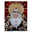 Coleccionismo: RETABLO DE 12 AZULEJOS 15X15CTM DE LA VIRGEN DE LOS DOLORES DE SEVILLA (COFRADIA DEL CERRO). Lote 117362731
