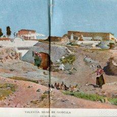Coleccionismo: L-LAMINA-AÑO 1902-- VALENCIA-SILOS DE GODELLA- POR EMILIO SALA 28 X 40. Lote 117441647