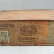 Coleccionismo: ANTIGUA CAJA PUROS LA ESCEPCIÓN DE JOSE GENER. HUMIDOR Nº 2. CUBA HABANA. PATENTE Nº 13555. RARA. Lote 124703586