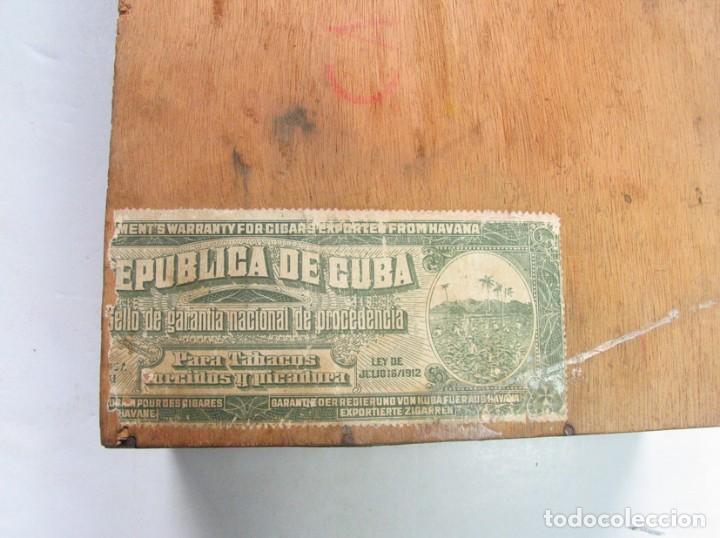 Coleccionismo: ANTIGUA CAJA PUROS LA ESCEPCIÓN DE JOSE GENER. HUMIDOR Nº 2. CUBA HABANA. PATENTE Nº 13555. RARA - Foto 4 - 124703586