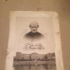 Coleccionismo: ANTIGUO FOLLETO / ESTAMPA DEL SIERVO DE DIOS H. FRANCISCO GARATE UNIVERSIDAD DE DEUSTO BILBAO. Lote 117685675