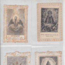 Coleccionismo: LOTE 4 POSTALES ESTAMPA RELIGIOSA FILIGRANA PUNTILLA VIRGEN PILAR VIRGEN SALUD ONIL. Lote 117763191