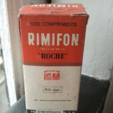 Coleccionismo: RIMIFON. FARMACO ANTITUBERCULOSO. MEDICAMENTO. MEDICINA. VACIO.. Lote 117943642