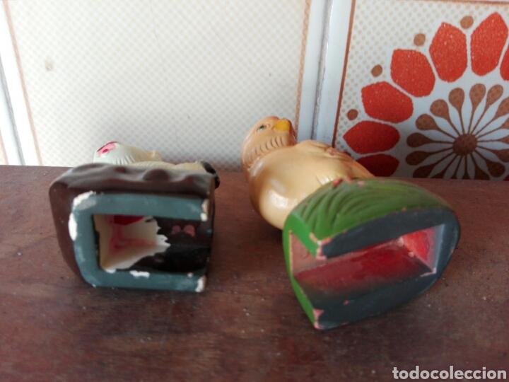 Coleccionismo: Sacapuntas perro y pollo de cerámica - Foto 2 - 117982756